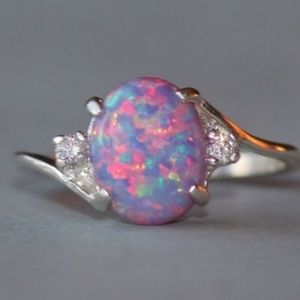 Jewelry - BEAUTIFUL MYSTIC PURPLE WITH CZ ACCENTS IN SILVER